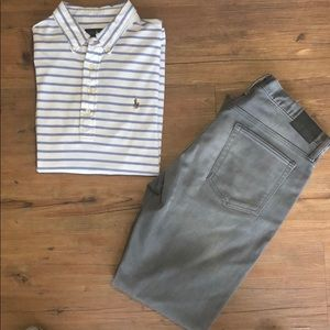 Polo SS Knit Oxford